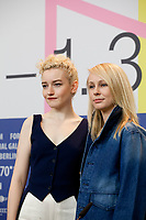Actress Julia Garner and Director Kitty Green at the press conference for the film The Assistant at the 70th Berlinale International Film Festival, on Sunday 23rd February 2020, Hotel Grand Hyatt, Berlin, Germany. Photo credit: Doreen Kennedy