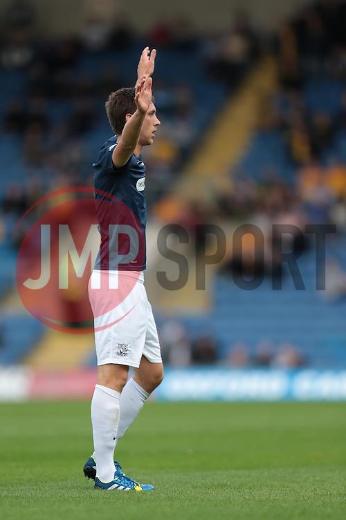 Southend United's Luke Prosser - Photo mandatory by-line: Nigel Pitts-Drake/JMP - Tel: Mobile: 07966 386802 05/10/2013 - SPORT - FOOTBALL - Kassam Stadium - Oxford - Oxford United v Southend United - Sky Bet League 2