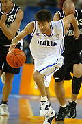 ATENE, 15 AGOSTO 2004<br /> BASKET, OLIMPIADI ATENE 2004<br /> ITALIA - NUOVA ZELANDA<br /> NELLA FOTO: GIANMARCO POZZECCO<br /> FOTO CIAMILLO
