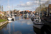 Boats in old harbour, Enkhuizen, Netherlands
