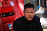 Atletico de Madrid´s coach Diego Pablo Simeone during 2014-15 La Liga Atletico de Madrid V Espanyol match at Vicente Calderon stadium in Madrid, Spain. October 19, 2014. (ALTERPHOTOS/Victor Blanco)