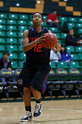 Dec 7, 2011; San Francisco CA, USA;  Florida Gators guard Deana Allen (12) warms up before the game against the San Francisco Lady Dons at War Memorial Gym.  Florida defeated San Francisco 91-68. Mandatory Credit: Jason O. Watson-US PRESSWIRE