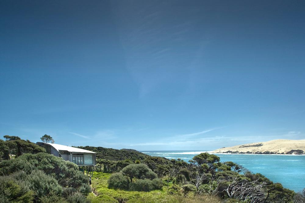 hokianga, wishart house, new zealand, residential, house, remote, sand, sea, rewi thompson, north island