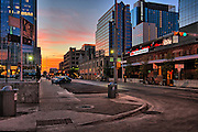 Twilight Sunrise falls on 4 ave and Congress. Soon the SunRize and Fort Worth Awakes