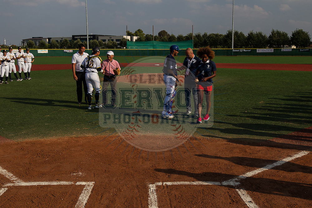 Fifth game of the France International Baseball Tournament 2014, won by the French Team 10 to 4 against Seino Unyu from Japan.