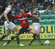 Gary Harkins and Alan Maybury  - Hibernian v Dundee - Clydesdale Bank Scottish Premier League at Easter Road.. - © David Young - www.davidyoungphoto.co.uk - email: davidyoungphoto@gmail.com