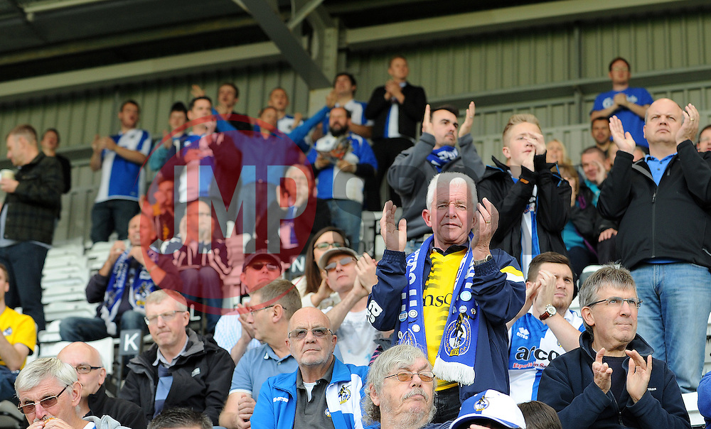 Fans - Mandatory byline: Neil Brookman/JMP - 07966 386802 - 03/10/2015 - FOOTBALL - Globe Arena - Morecambe, England - Morecambe FC v Bristol Rovers - Sky Bet League Two