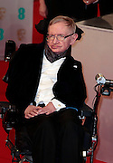 Feb 8, 2015 - EE British Academy Film Awards 2015 - Red Carpet Arrivals at Royal Opera House<br /> <br /> Pictured: Stephen Hawking<br /> ©Exclusivepix Media