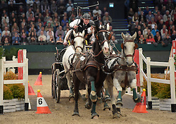 17.01.2016, Neue Messe, Leipzig, GER, FEI World Cup Driving, im Bild Fahrer Jozsef Dobrovitz jun. (HUN) // during the FEI World Cup Driving at the Neue Messe in Leipzig, Germany on 2016/01/17. EXPA Pictures © 2016, PhotoCredit: EXPA/ Eibner-Pressefoto/ Modla<br /> <br /> *****ATTENTION - OUT of GER*****