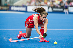 Anna Toman. England v The Netherlands, Lee Valley Hockey and Tennis Centre, London, England on 11 June 2017. Photo: Simon Parker