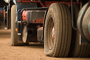 Flat tire on a truck near Notse, Togo on Thursday October 2, 2008.