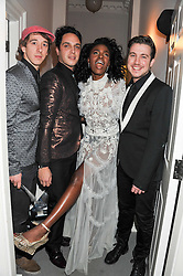 SHINGAI SHONIWA and members of the Noisettes at a party to celebrate thelaunch of Alice Temperley's flagship store Temperley, Bruton Street, London on 6th December 2012.