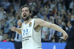 April 25, 2018 - Madrid, Madrid, Spain - SERGIO LLULL  of Real Madrid during the Turkish Airlines Euroleague play-off quarter final series third match between Real Madrid and Panathinaikos Superfoods at the Wizink Center in Madrid, Spain on April 25, 2018  (Credit Image: © Oscar Gonzalez/NurPhoto via ZUMA Press)