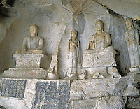 AA01194-03...CHINA - Rock carvings in Fubo Cave along the Li River