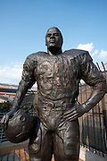 AUSTIN, TX - SEPTEMBER 14: A statue of former Texas Longhorns running back Earl Campbell on display at Darrell K Royal-Texas Memorial Stadium on September 14, 2013 in Austin, Texas.  (Photo by Cooper Neill/Getty Images) *** Local Caption *** Earl Campbell