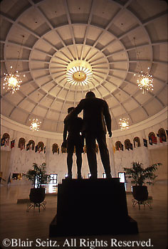 Hershey, PA, Milton Hershey School, Founder's Hall Rotunda, Statue of Milton Hershey and Boy,