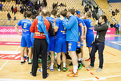 Players of Slovenia during friendly handball match between National Teams of Slovenia and F.Y.R. of Macedonia before EHF EURO 2016 in Poland on January 5, 2016 in Arena Zlatorog, Celje, Slovenia. Photo by Urban Urbanc / Sportida