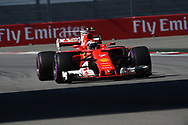 Kimi Raikkonen of Scuderia Ferrari during the qualifying session for the Russian Formula One Grand Prix at Sochi Autodrom, Sochi, Russia.<br /> Picture by EXPA Pictures/Focus Images Ltd 07814482222<br /> 29/04/2017<br /> *** UK &amp; IRELAND ONLY ***<br /> <br /> EXPA-EIB-170429-0128.jpg