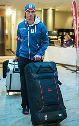 28.01.2014,  Marriott, Wien, AUT, Sochi 2014, Einkleidung OeOC, im Bild Max Franz (Ski Alpin, AUT) // Max Franz (Ski Alpine, AUT) during the outfitting of the Austrian National Olympic Committee for Sochi 2014 at the  Marriott in Vienna, Austria on 2014/01/28. EXPA Pictures © 2014, PhotoCredit: EXPA/ JFK