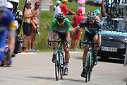 Peter Sagan (SVK - Bora - Hansgrohe), Daniel Oss (ITA - Bora - Hansgrohe) during the 105th Edition of Tour de France 2018, cycling race stage 19, Lourdes - Laruns (200 km) on July 27, 2018 in Laruns, France - photo Kei Tsuji / BettiniPhoto / ProSportsImages / DPPI