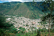 ECUADOR, HIGHLANDS, BANOS hot springs resort and pilgrimage site