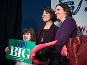 05 DECEMBER 2019 - DES MOINES, IOWA: US Senator AMY KLOBUCHAR (D-MN) poses for a selfie after giving a speech during a campaign event in Des Moines. Sen. Klobuchar is campaigning to be the Democratic nominee for the US Presidency. Iowa holds the first selection event of the Presidential election cycle. The Iowa caucuses are Feb. 3, 2020.            PHOTO BY JACK KURTZ