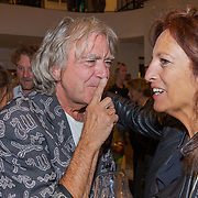 NLD/Amsterdam/20190912 - Expositie opening hoezencollectie Govert de Roos, Govert de Roos en Paula Patricio