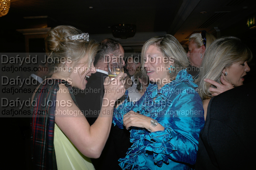Daisy Drummond of Megginch and the hon Alexandra Foley, The Royal Caledonian Ball 2007. Grosvenor House. 4 May 2007.  -DO NOT ARCHIVE-© Copyright Photograph by Dafydd Jones. 248 Clapham Rd. London SW9 0PZ. Tel 0207 820 0771. www.dafjones.com.