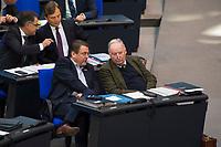 DEU, Deutschland, Germany, Berlin, 31.01.2019: Blick in die Reihen der AfD-Bundestagsfraktion (Alternative für Deutschland, AfD) bei einer Plenarsitzung im Deutschen Bundestag. Vorn Stephan Brandner und AfD-Fraktionschef Alexander Gauland.
