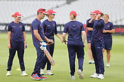 Team training session  during the media day for Lancashire Thunder at the Emirates, Old Trafford, Manchester, United Kingdom on 17 July 2018. Picture by George Franks.