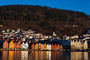 The old Hanseatic waterfront in Bergen, Norway
