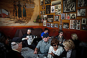 San Francisco, April 3 2012 - At the Caffe Trieste in the North Beach area, where many poets and artists used to meet since it opened in 1956.