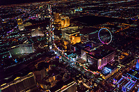 Curvature of Las Vegas Strip, Northern End