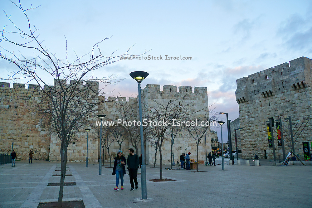 Jaffa Gate the main entrance into the Old City of Jerusalem