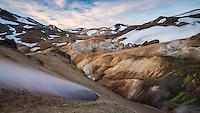 Kerlingarfjöll mountain range at sunrise, interior of Iceland.