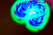 Light Painting from spinning fidget spinner