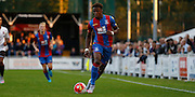 Wilf Zaha charging forward during the Pre-Season Friendly match between Bromley and Crystal Palace at the Courage Stadium, Bromley, United Kingdom on 30 July 2015. Photo by Michael Hulf.