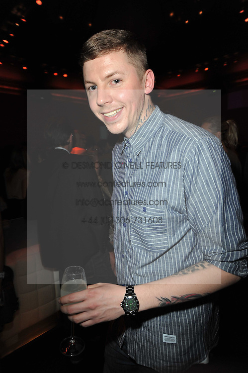 PROFESSOR GREEN at a party to launch Esquire magazine's June issue hosted by new editor Alex Bilmes at Sketch, Conduit Street, London on 5th May 2011.