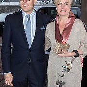 NLD/Amsterdam/20140425 - Prins Constantijn en Prinses Laurentien bij uitreiking World Press Photo 2013, Winnaar is John Stanmeyer