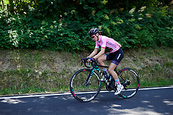 Kasia Niewiadoma (POL) chases back after an early bike change at Stage 2 of 2019 Giro Rosa Iccrea, an 78.3 km road race starting and finishing in Viù, Italy on July 6, 2019. Photo by Sean Robinson/velofocus.com