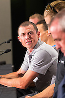 Media Conference with (L-R) Simon Gerrans (ORICA-SCOTT), , Tour Down Under, Australia on the 14 of January 2017 ( Credit Image: © Gary Francis / ZUMA WIRE SERVICE )