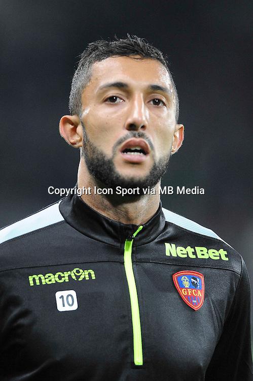 Mohamed LARBI - 17.10.2015 - Saint Etienne / Gazelec Ajaccio - 10eme journee de Ligue1<br /> Photo : Jean Paul Thomas / Icon Sport