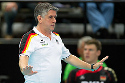 18.06.2011, Bremen Arena, Bremen, GER, FIVB World League, Vorrunde Pool B, Deutschland (GER) vs Bulgarien (BUL), im Bild Raul Lozano (Bundestrainer GER) // during FIVB World League game, Germany vs Bulgaria, at Bremen Arena, Bremen, 2010-06-18, EXPA Pictures © 2011, PhotoCredit: EXPA/ nph/  Kurth       ****** out of GER / SWE / CRO  / BEL ******