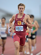 Apr 19, 2019; Torrance, CA, USA; David Hulme of Southern California runs in a 1,500m heat during the 61st Mt. San Antonio College Relays at El Camino College.