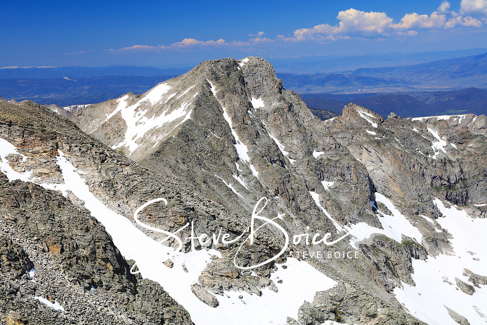 Paiute Peak from the summit of Mount Audubon in the Indian Peaks Wilderness