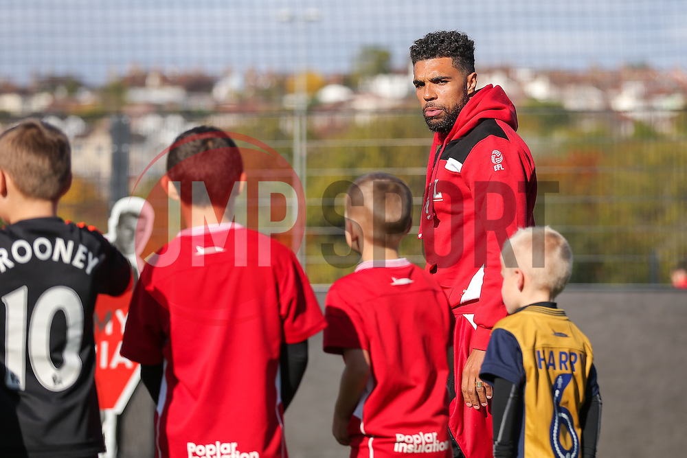Scott Golbourne of Bristol City visits the Bristol CIty Community Trust half term football camp - Rogan Thomson/JMP - 27/10/2016 - FOOTBALL - South Bristol Sports Centre - Bristol, England.