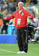 A frustrated Italian coach Marcello Lippi reacts during the 2010 FIFA World Cup South Africa Group F match between Italy and New Zealand at the Mbombela Stadium on June 20, 2010 in Nelspruit, South Africa.