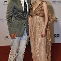 """HONG KONG - MARCH 22:  Hong Kong actor Simon Yam (L) and Chinese mainland actress Zhang Jing Chu attend the Opening Ceremony of the 33rd Hong Kong International Film Festival, the Gala Premiere of the opening films """"Shinjuku Incident """" and """"Night and Fog"""", at the Hong Kong Convention and Exhibition Centre on March 22, 2009 in Hong Kong.  Photo by Victor Fraile / studioEAST"""