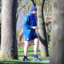 Mohamed Boughanmi of France during the training session of  the France rugby team at Centre National de Rugby on March 14, 2017 in Marcoussis, France. (Photo by Dave Winter/Icon Sport)