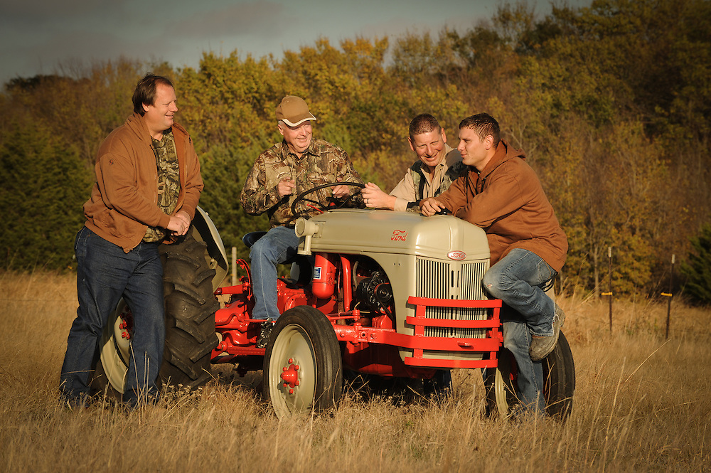 Enjoying a visit around the tractor as part of an editorial lifestyle photo shoot near Dallas.